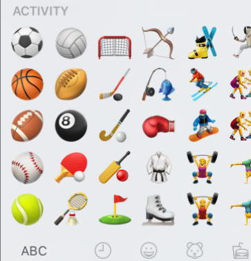 Sports and Activity Emoji